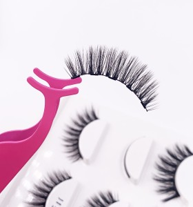 Private Label Handmade Natural Long Led Magnetic Eyelashes Non-Gel Strip Eyelashes natural mink eyelashes