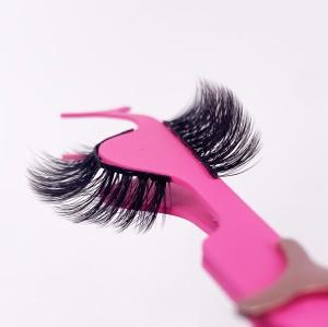 Private Label Handmade Natural Long Led Magnetic Eyelashes Non-Gel Strip Eyelashes natural mink eyelashes