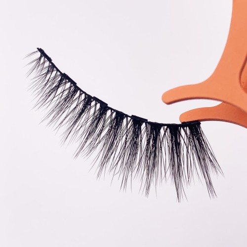 Wholesale Make Own Brand Hand Made eyelashes clear bands 100% Real Mink Magnetic Eyelashes