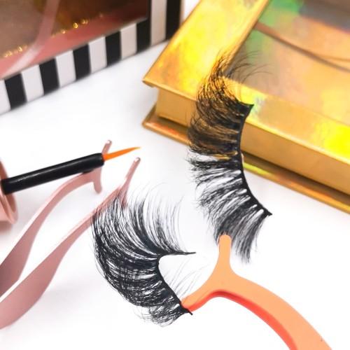 false eyelashes reviews Custom Packaging Professional Own Brand Natural Makeup 3d Silk Strip Eyelashes