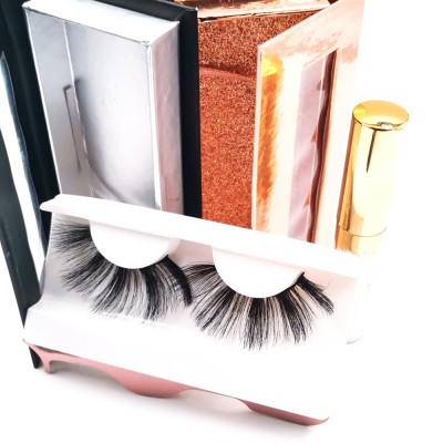eyelashes false bulk Customized Packaging Crazy Dramatic Full Real Queen Faux 3d Silk Eyelashes