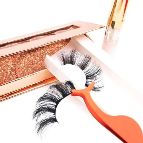 eyelashes false bulk Customized Packaging Crazy Dramatic Full Real Queen Faux 3d Silk Eyelashes