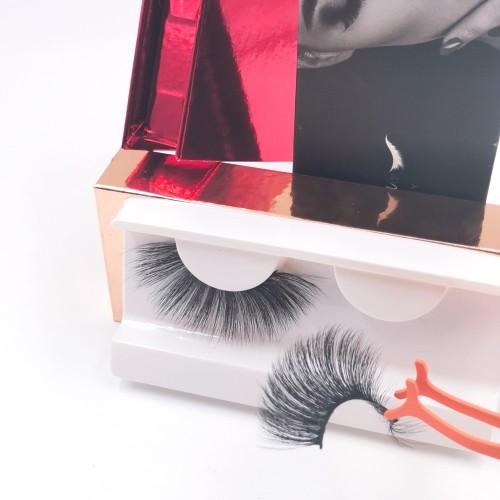 transparent band eyelashes mink eyelashes with private label eyelashes packaging