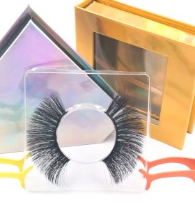 mink false eyelashes packaging Premium New Style Own Brand Luxury Handmade Human Hair 3d Silk Eyelashes