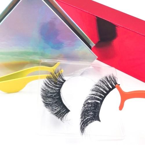 mink false eyelashes packaging Premium New Style Own Brand Luxury Handmade Human Hair 3d Silk Eyelashes