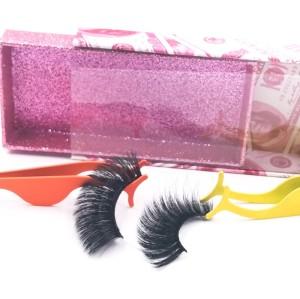 eyelashes paper packaging Brand Premium Top Quality Fur Strip Case Real Handmade 3d Silk Lashes eyelashes
