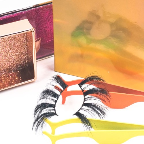 eyelashes raw materials 100% Fur Soft Good Quality Real Newly Designed Own Brand 3d Silk Lashes