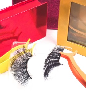 eyelashes mink pack Oem Charming New Style Private Label Individual 3D Soft Silk Eyelashes