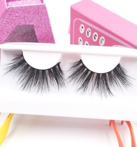 3d Mink Fur Eyelashes Handmade Hot Selling Own Brand Free Sample Fashion Style regular eyelashes