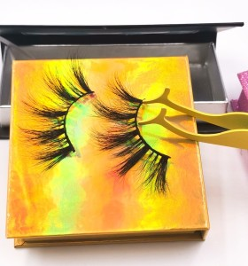 empty eyelash box Wholesale High Quality Permanent Hand Made Self-Adhesive Faux Mink Lashes