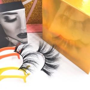 empty eyelash box Wholesale High Quality Permanent Hand Made Self-Adhesive Faux Mink Lashes