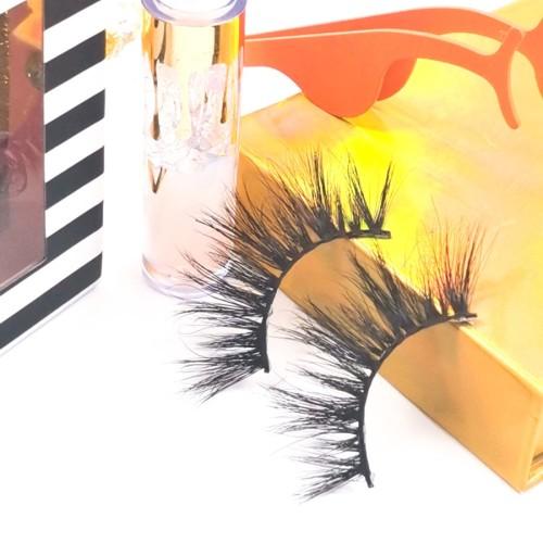 eyelashes paper box Different Design Soft  Own Brand Many Choose 3d 25mm MinkLashes Eyelashes
