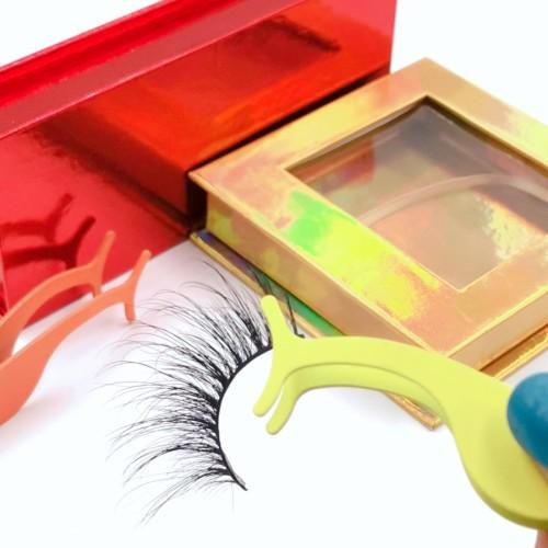 eyelashes box packaging handmade 4D 25mm strip eyelash real minkLashes False Eyelashes