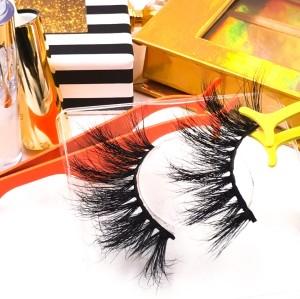 eyelashes custom boxes custom lashes wholesale 3d mink eyelashes 25mm long lasting mink eyelashes
