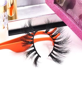 empty eyelash boxes Best Private Label Own Brand Flexible Fluffy Soft 3d mink Fur Eyelashes Lashes