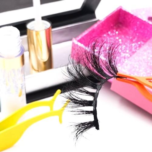 empty eyelash boxes Best Private Label Own Brand Flexible Fluffy Soft 3d mink Fur Eyelashes Lashes
