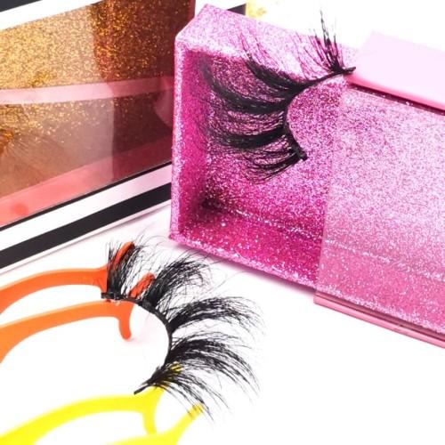 wholesale eyelashes boxes eyelashes vendor 25mm wholesale custom private label box LOGO