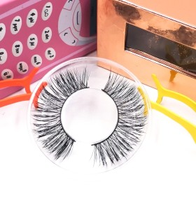 3d human hair eyelashes Wholesale False Eyelashes Case Real Mink Eye Private Label