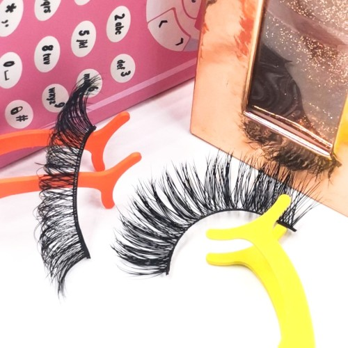 3d human hair eyelashes Wholesale False Eyelashes Case Real Mink Eye Private Label