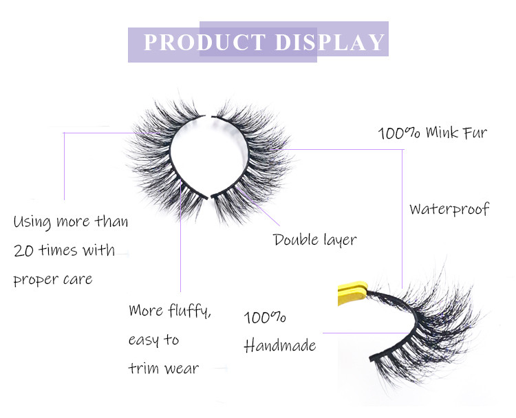 mink eyelashes packaging