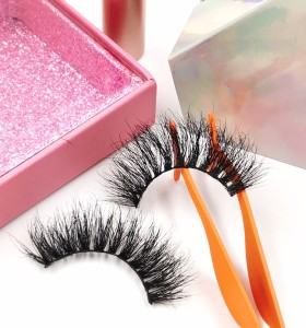 wholesale oem and odm accepted 100% real 25mm synthetic lashes better than mink