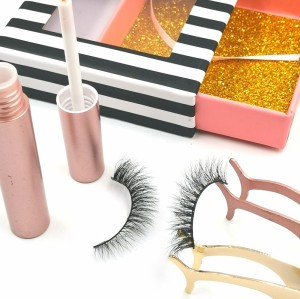 wholesale private label luxurious thick mink eyelashes with custom packages