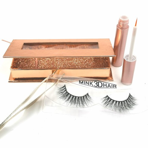 wholesale private label long lasting mink eyelashes individual with custom package