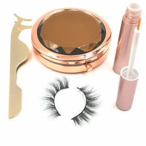 wholesale natural volume private label makeup 3d mink eyelashes cruelty free with custom packaging box