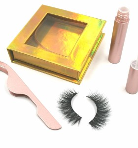 wholesale own brand 100% real beauty supply fabric eyelashes eyelashes with customer package