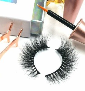 3d Mink False Eyelashes Logo Mink Eyelashes, 100% Handmade invisible lashes private label