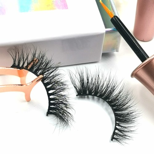 3d Mink False Eyelashes Logo Mink Eyelashes, 100% Handmade invisible lashes private label