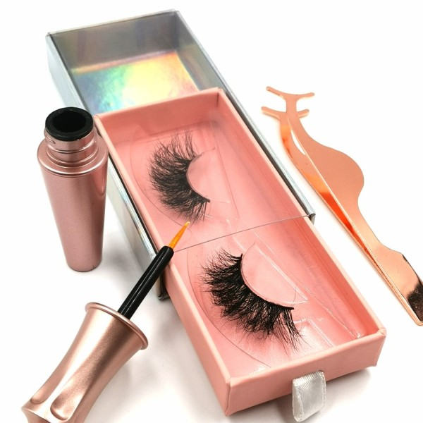 100% Real Mink Individual Eyelash Wholesale Mink Eyelashes Custom twinkle eyelashes