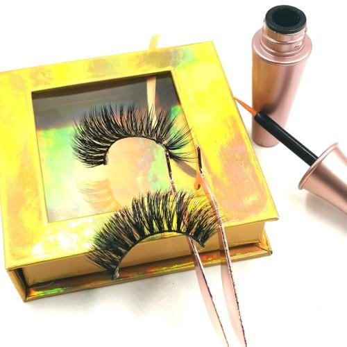 Black Cruelty Free 3d Mink Eyelashes, Best 100% Hand Made fluffy mink eyelashes