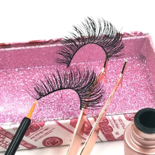 style fluffy 3d mink eyelashes 100% hand made natural looking own brand eyelashes