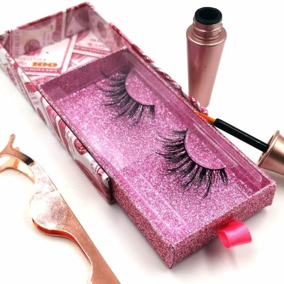 Best Popular Natural Hand Custom Lashes Packaging 3d glue eyelashes set