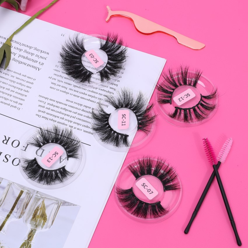 Wholesale Different Design Soft Own Brand Many Choose 3d 25mm MinkLashes Eyelashes