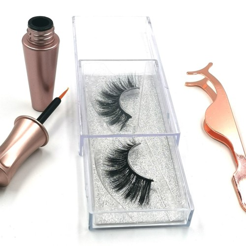 Wholesale False Lashes 100% hand made silk lashes Packed In Round Box