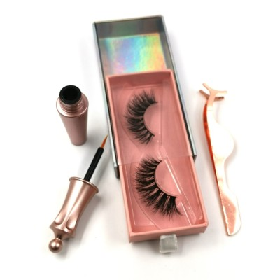 100% Real Hand Made 3d Mink Eyelash With Custom eyelashes packaging