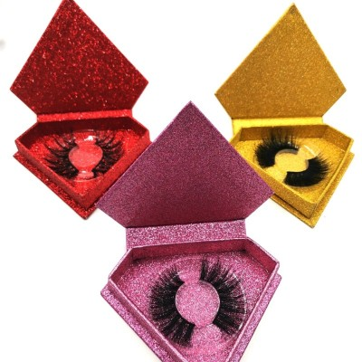 Wholesale Custom Logo Siberian Eyelash Handmade Natural Long Real Fur False 3d Eyelashes 25mm Mink Lashes Vendor
