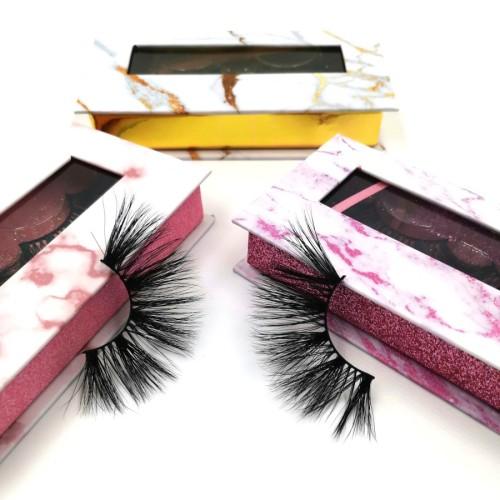 Wholesale Price Long Length 100% Real Mink Full Volume 3D Mink 25mm Eyelashes