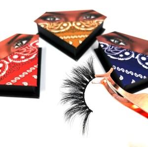 Private Label 25mm Lash Supplies Natural Black Mink custom made eyelashes Super Fluffy 3d Mink Eyelashes