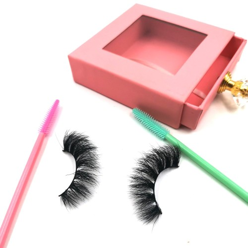 Manufacturer Private Label Custom Packaging Invisible Band Handmade Strip Eyelash 3D Mink Lashes