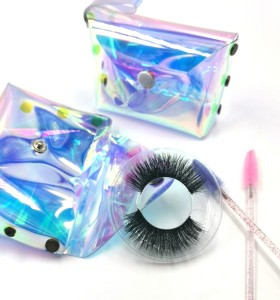 Own Brand OEM Service Handmade Real Fur Fake EyeLash 3d Mink Eyelashes