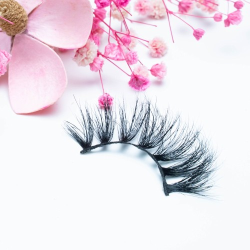 High Quality Eyelashes Oem Factory Wholesale 22MM 100% Mink Fur Natural Real Fur 3d Mink Eyelashes
