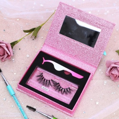 High Quality Eyelashes Oem Factory Wholesale 22MM 100% Mink Fur Natural Real Fur 3d Mink Eyelashes