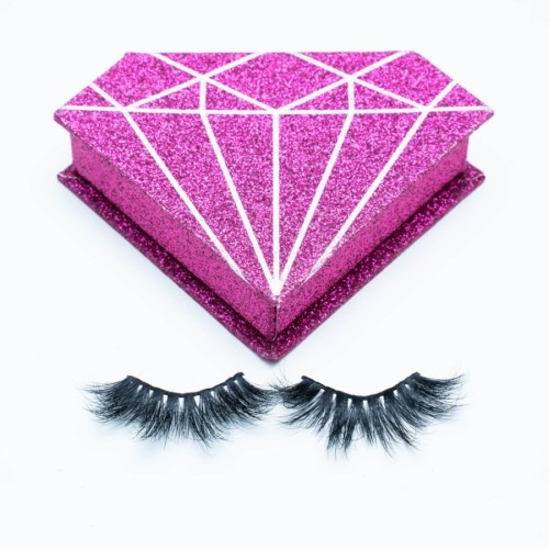 Wholesale Own Brand Handmade Artificial Thick And Long Real Fur Material 22mm 100% 3d Mink Strip Eyelashes