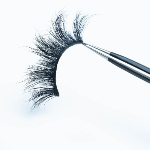 Wholesale Design Custom Eyelash Packaging Oem 3d Strip Mink Eyelashes 22mm False Lashes