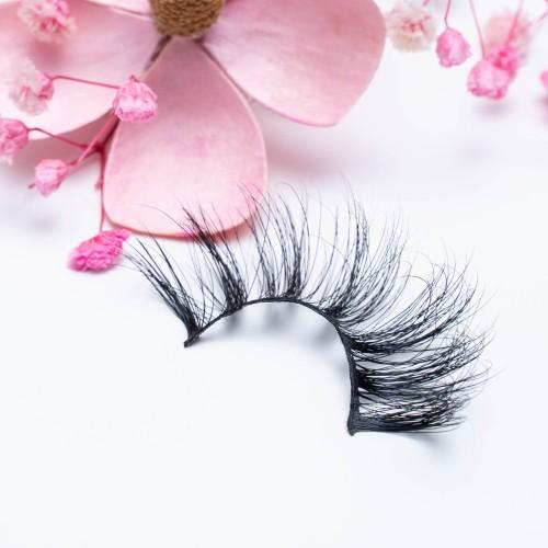 Long Fur Wispy Fluffy 25mm 5d Mink Fur False Eyelashes With Custom Eyelash Box