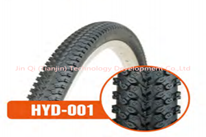 Black solid mountain bicycle tire