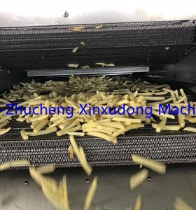 Automatic frozen potato chips making machine